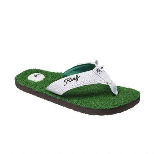 REEF MENS FLIP FLOPS.MULLIGAN II GOLF ARCH SUPPORT THONGS SANDALS SHOES 9S GRN